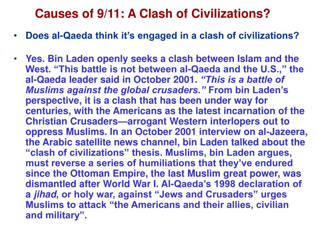 Causes of 9/11: A Clash of Civilizations?