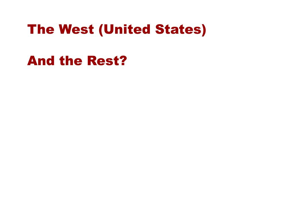 The West (United States)