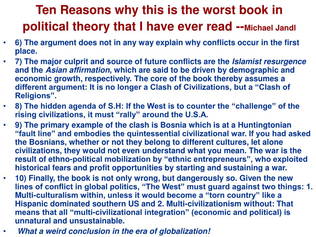 Ten Reasons why this is the worst book in political theory that I have ever read --