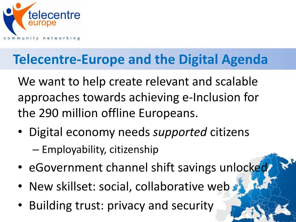 Telecentre-Europe and the Digital Agenda