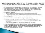 newspaper style in capitalization