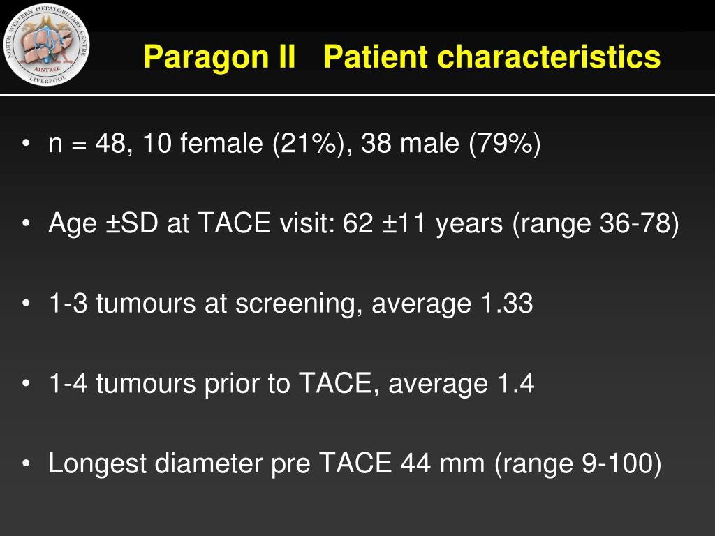 Paragon II   Patient characteristics