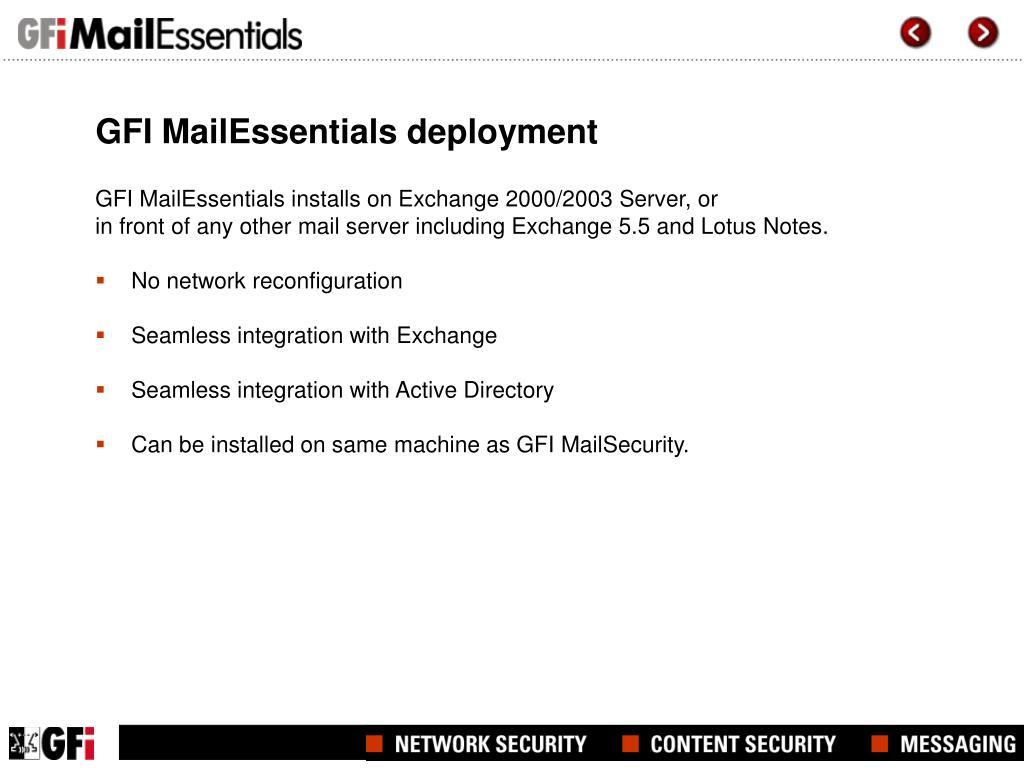GFI MailEssentials deployment