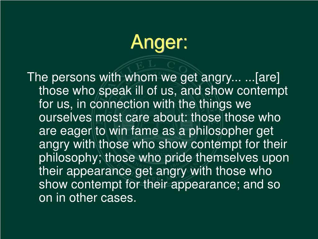Anger: