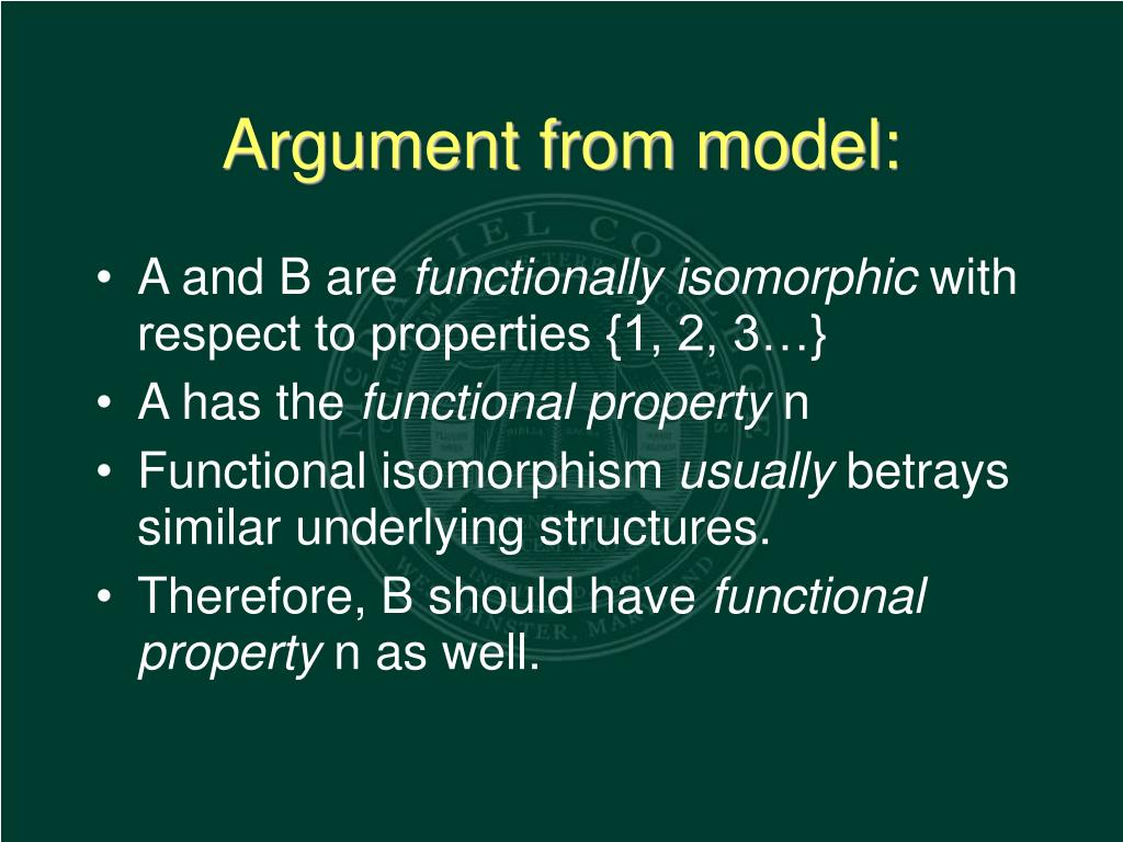 Argument from model: