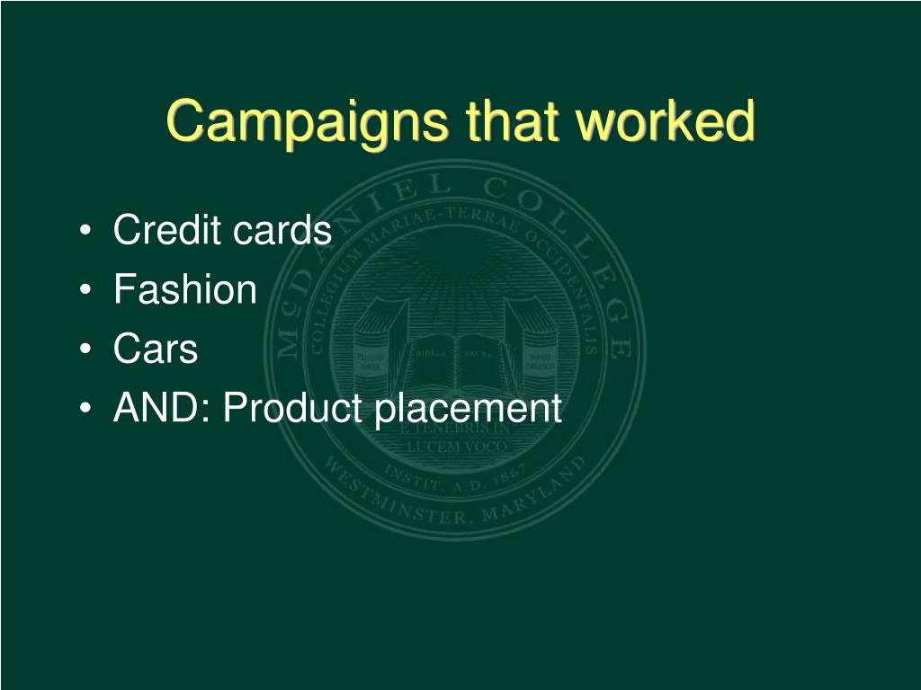 Campaigns that worked