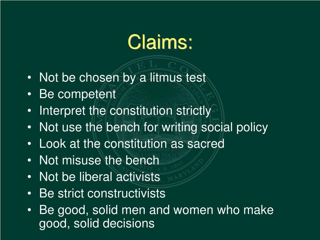 Claims:
