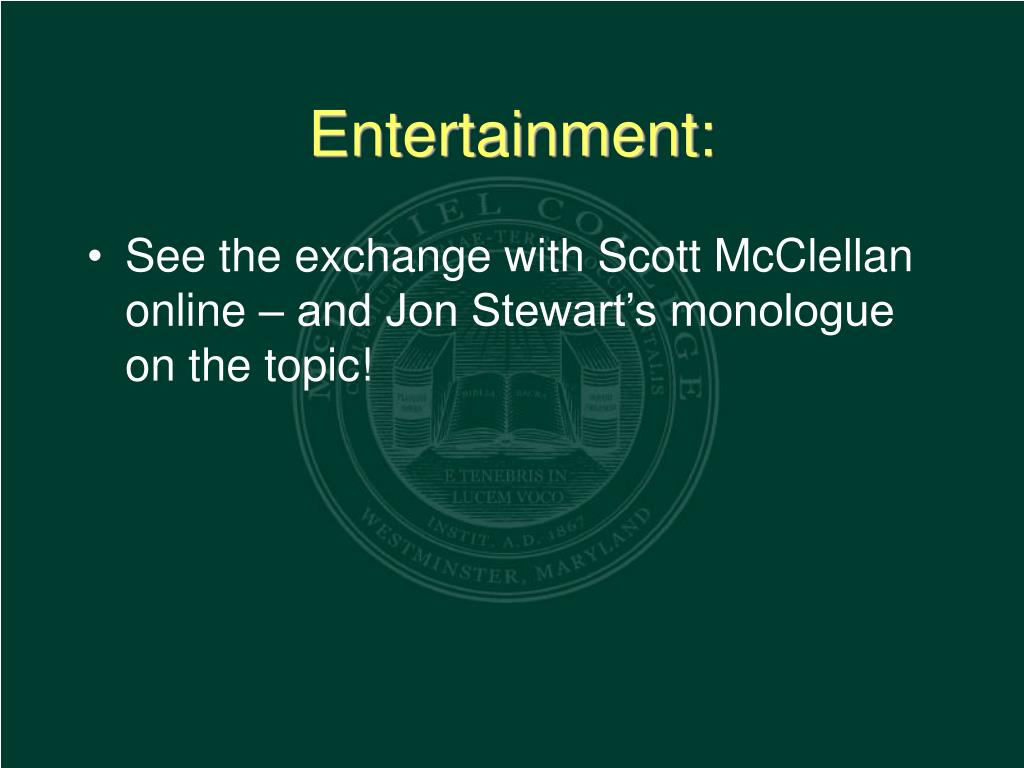 Entertainment: