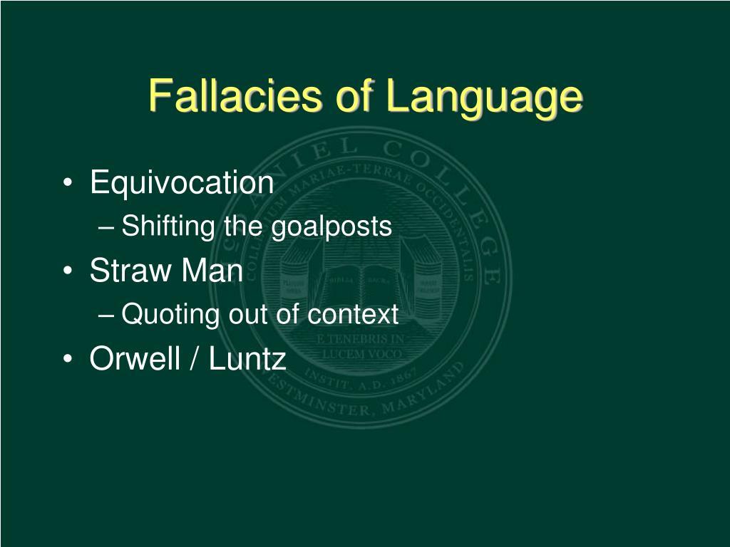 Fallacies of Language