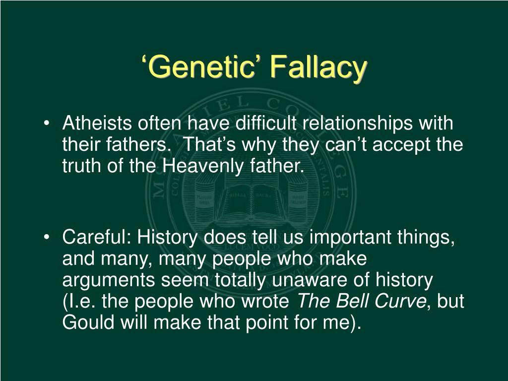 'Genetic' Fallacy