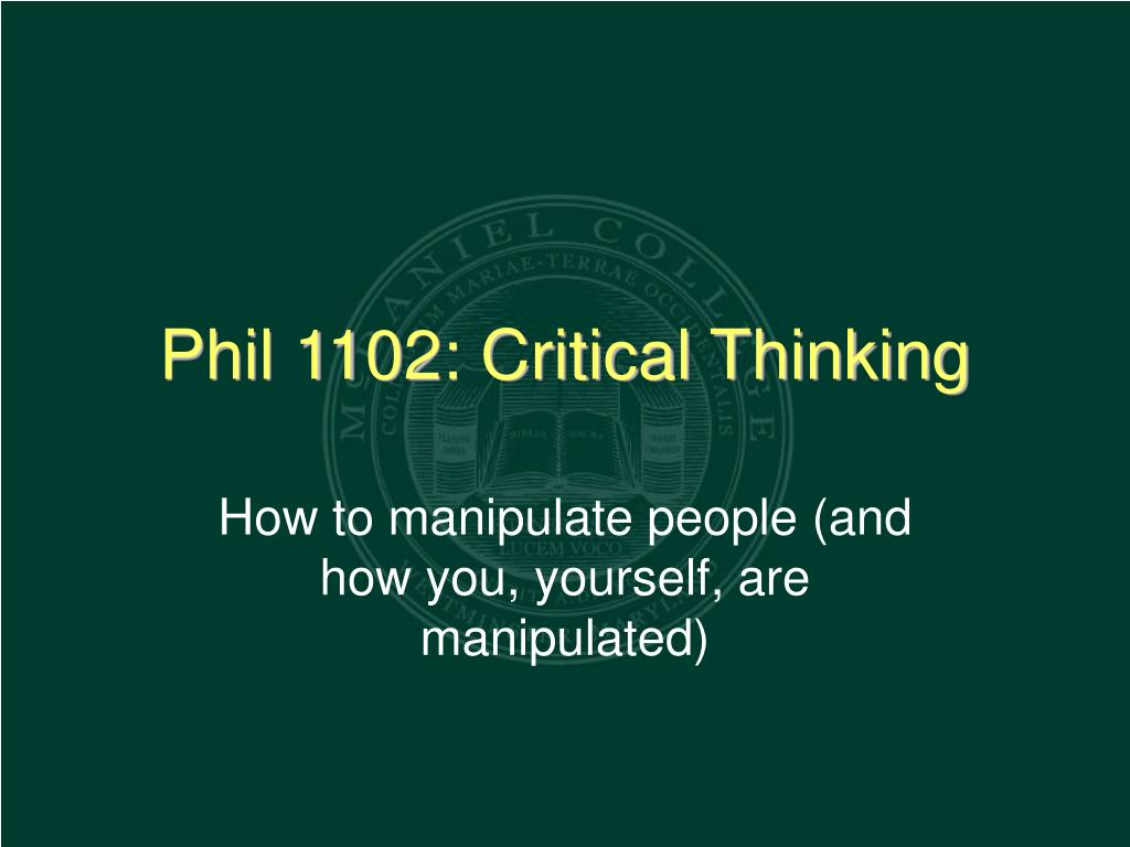 How to manipulate people (and how you, yourself, are manipulated)