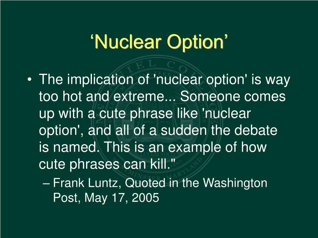 'Nuclear Option'