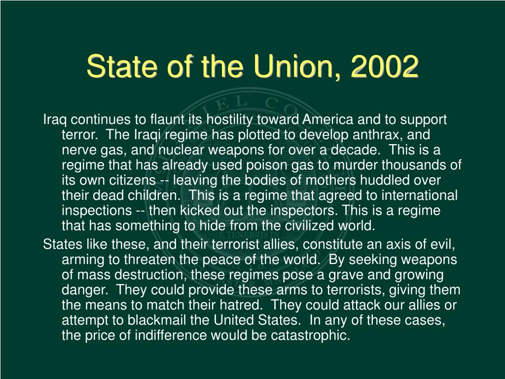 State of the Union, 2002