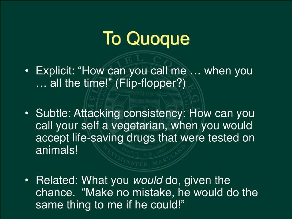 To Quoque