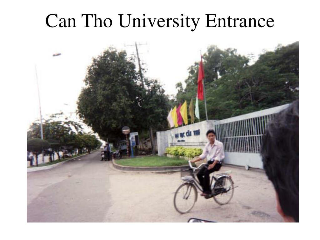 Can Tho University Entrance