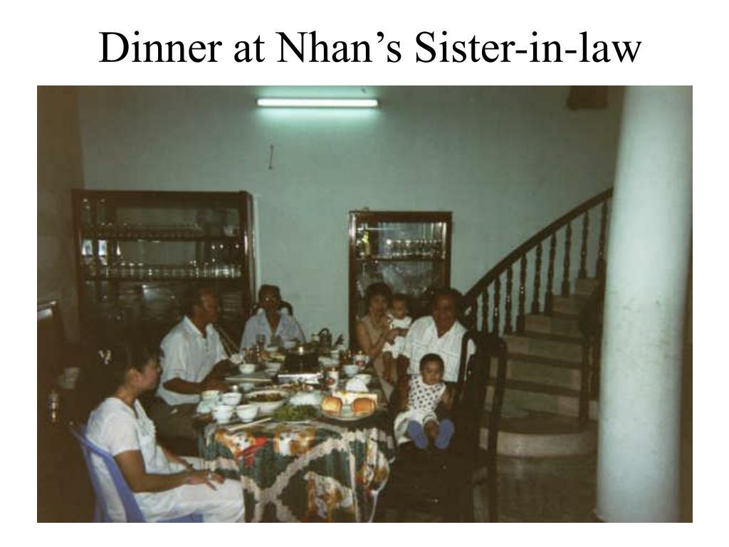 Dinner at Nhan's Sister-in-law