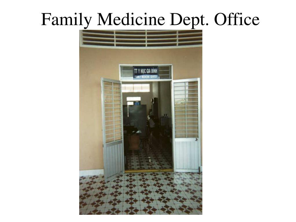 Family Medicine Dept. Office