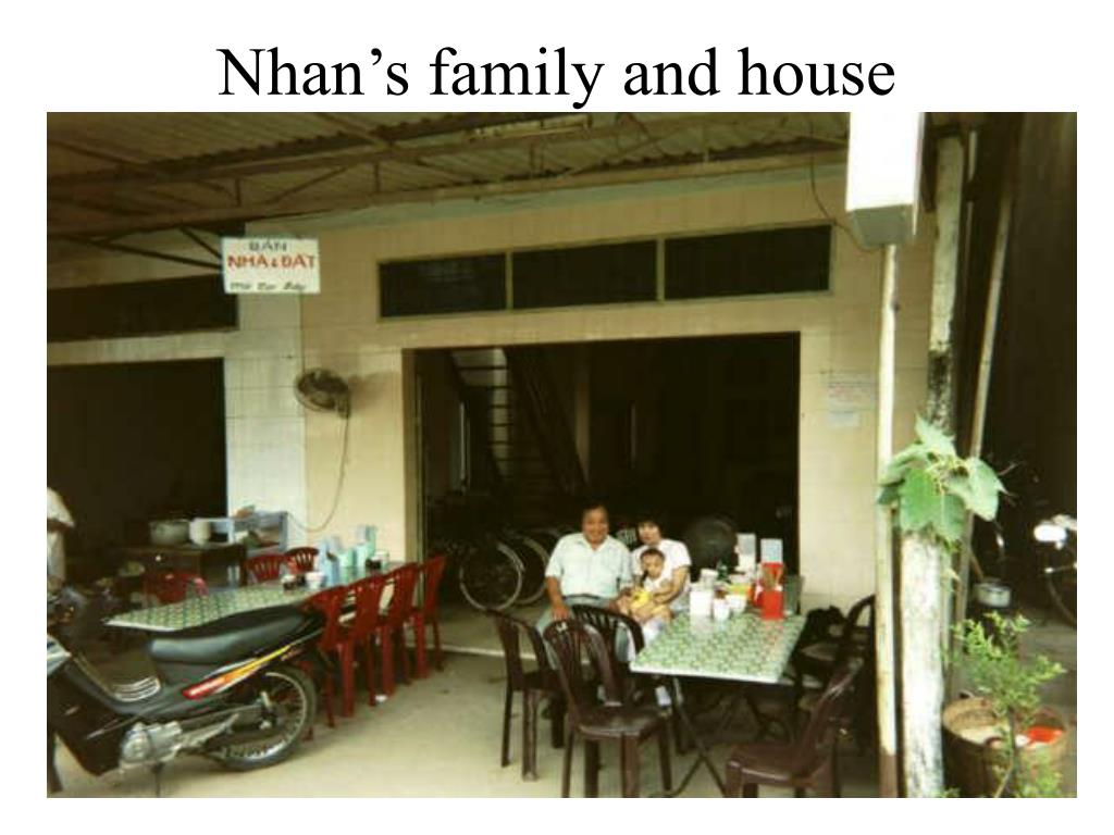 Nhan's family and house