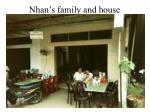 nhan s family and house
