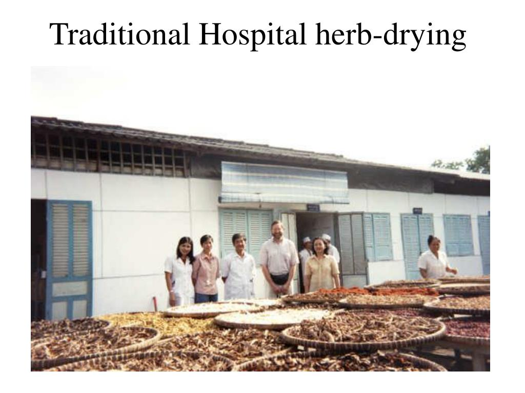 Traditional Hospital herb-drying