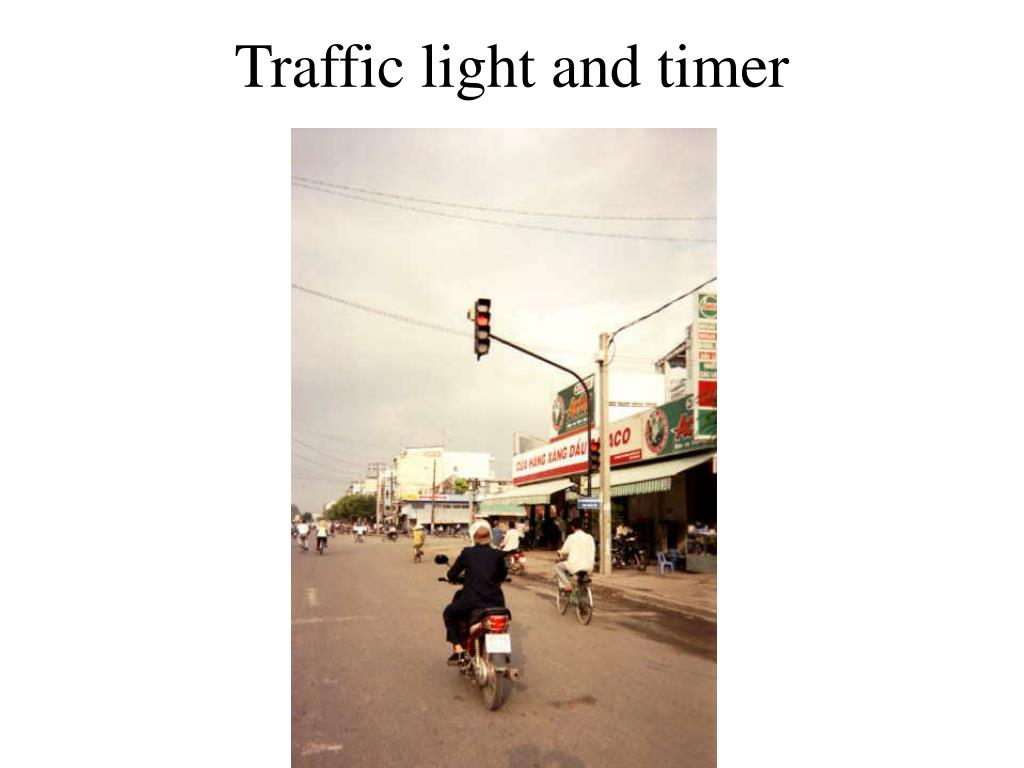 Traffic light and timer