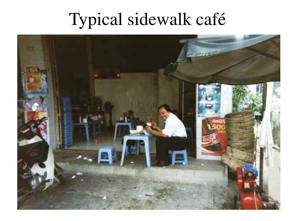 Typical sidewalk café