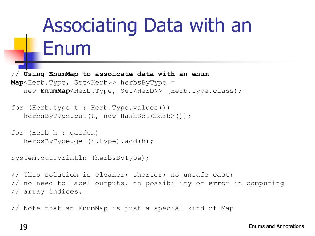 Associating Data with an Enum