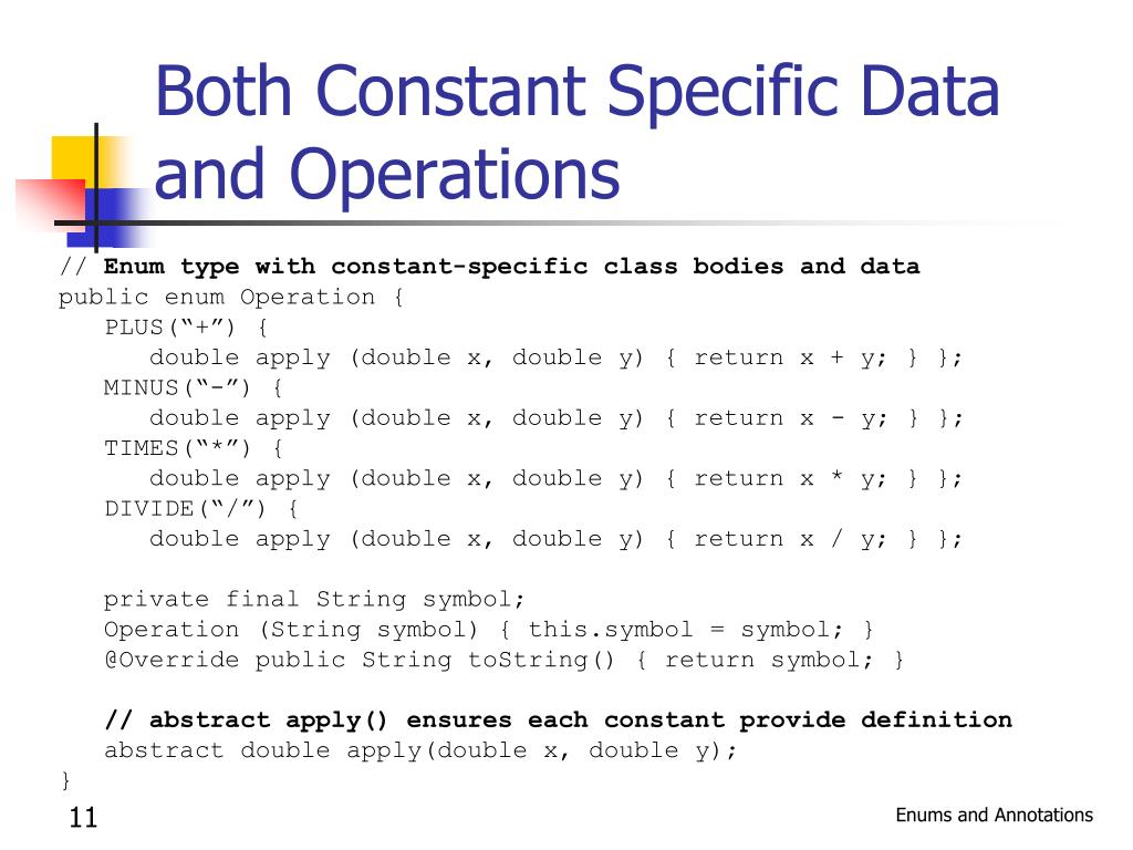 Both Constant Specific Data and Operations