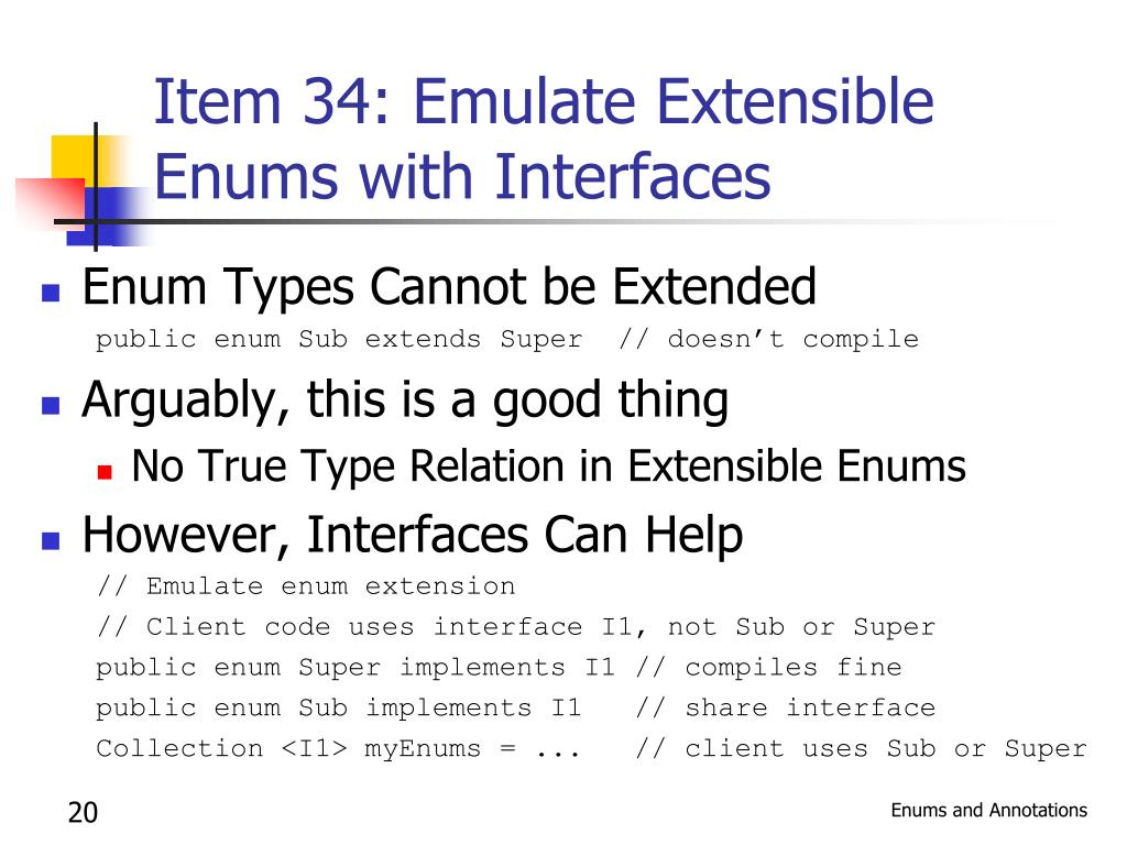 Item 34: Emulate Extensible Enums with Interfaces
