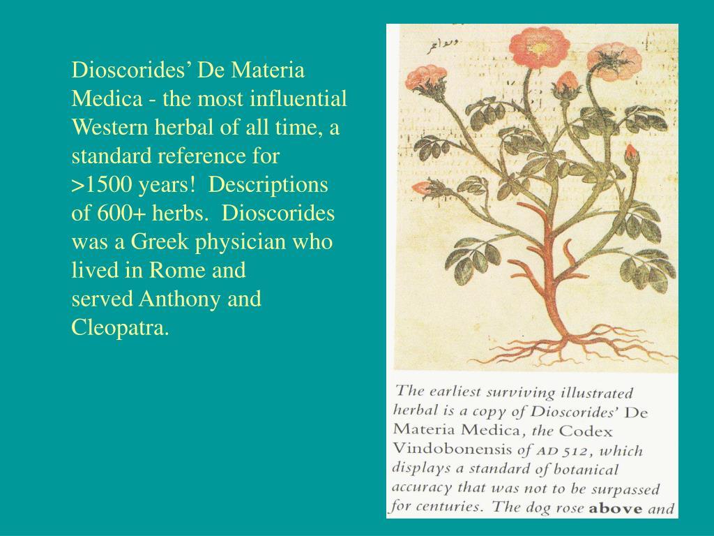 Dioscorides' De Materia