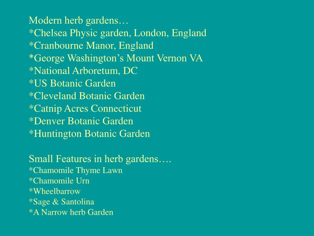 Modern herb gardens…