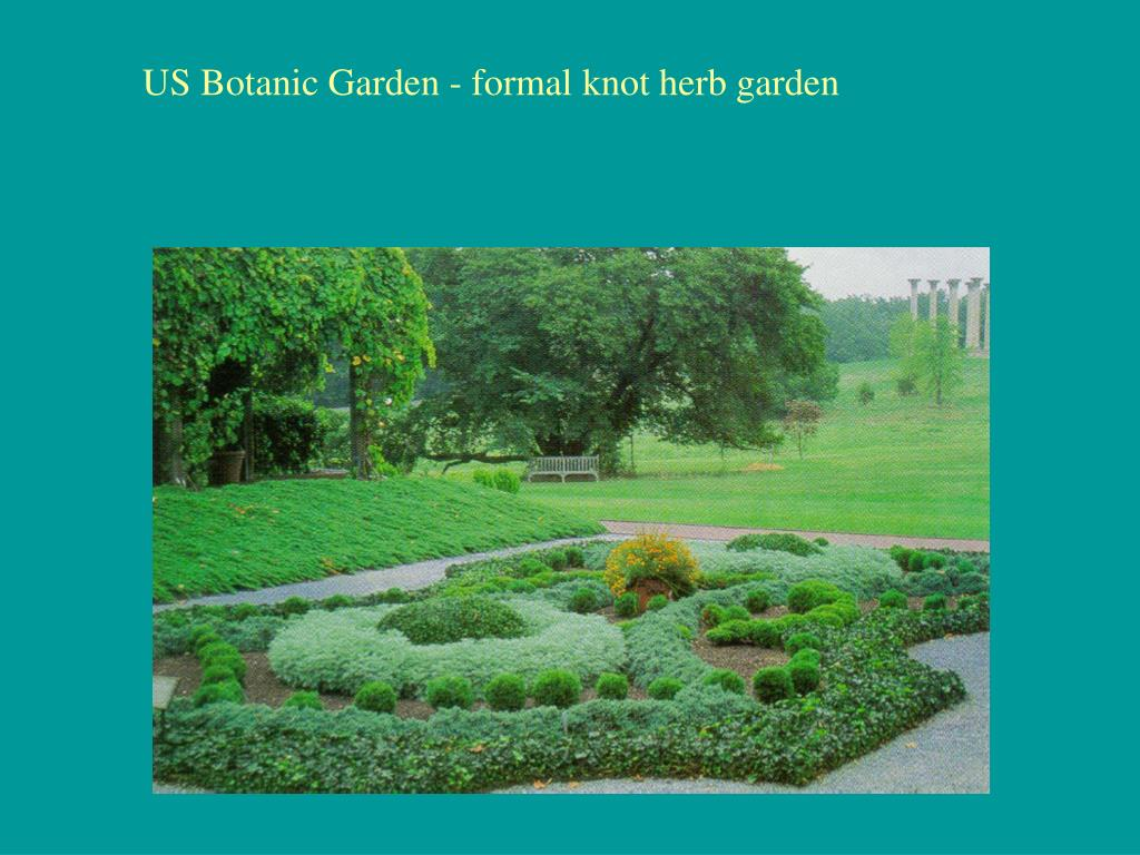 US Botanic Garden - formal knot herb garden