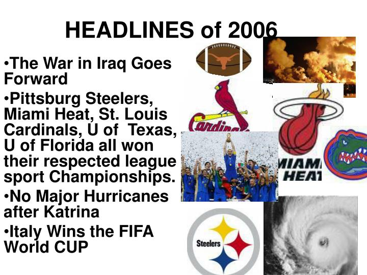 HEADLINES of 2006