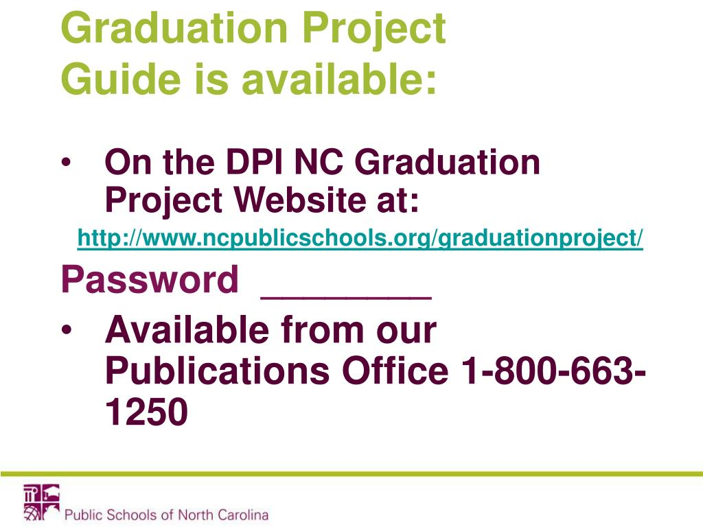 Graduation Project Guide is available: