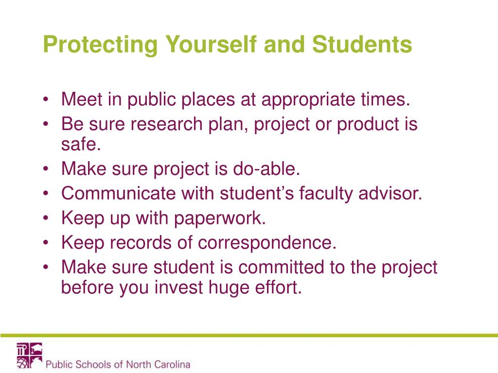 Protecting Yourself and Students