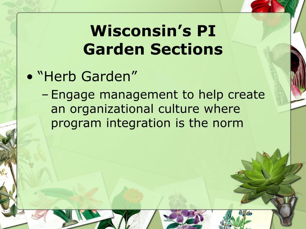Wisconsin's PI