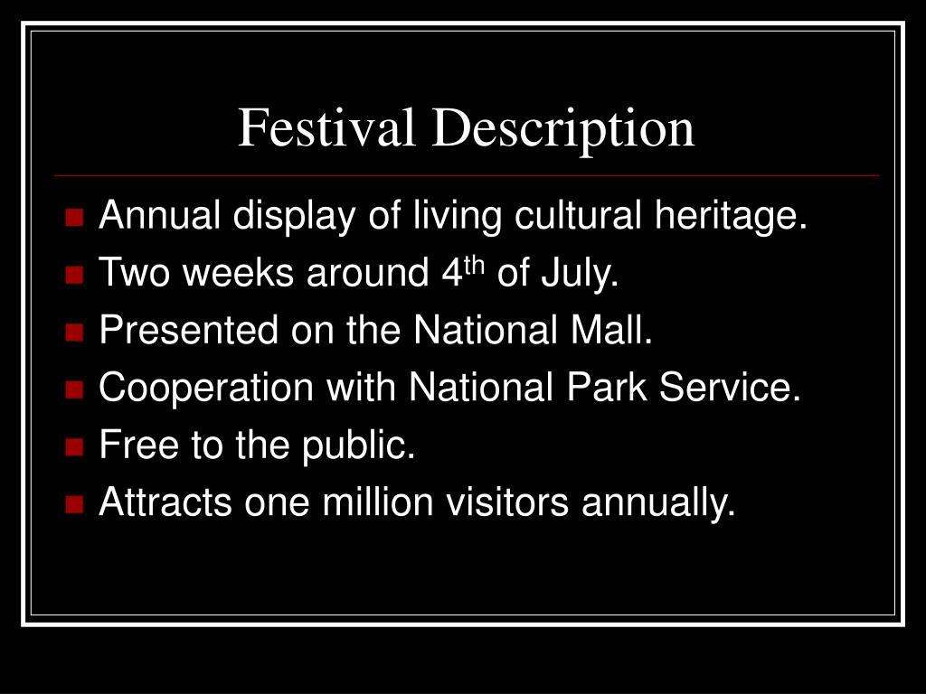 Festival Description