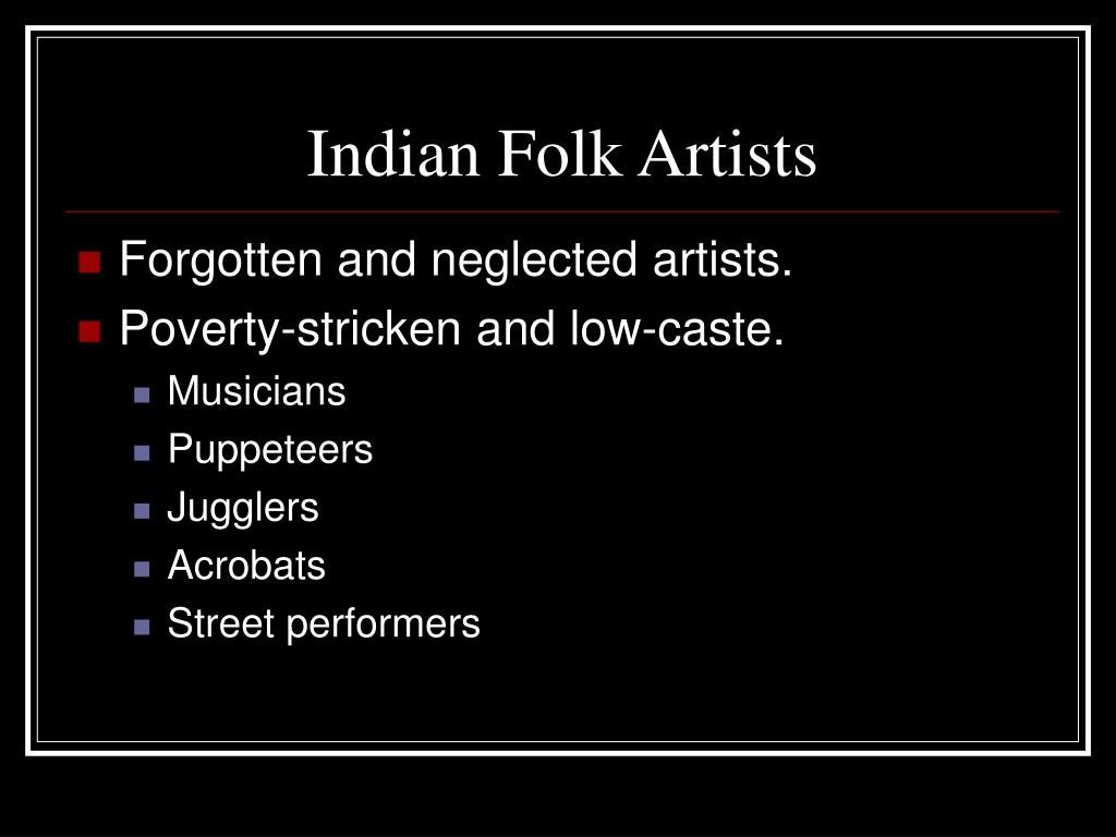 Indian Folk Artists