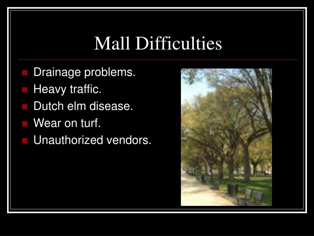 Mall Difficulties