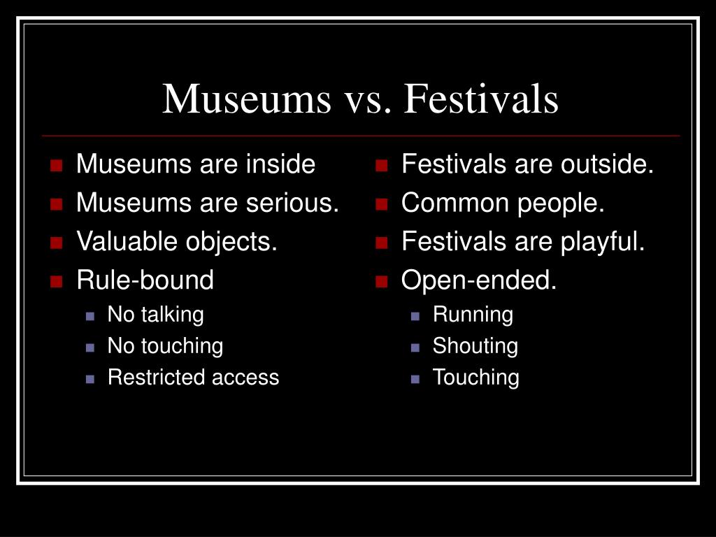 Museums are inside