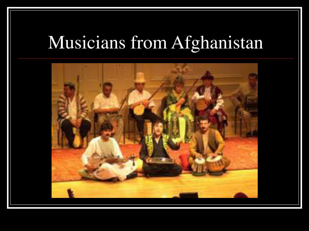 Musicians from Afghanistan