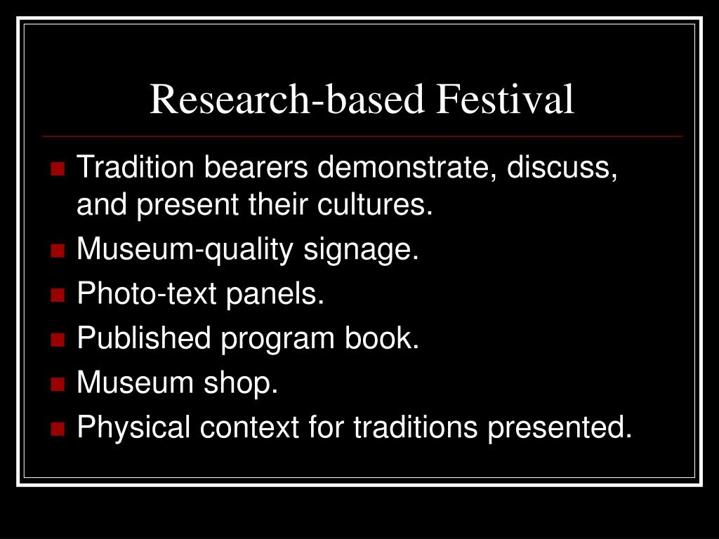 Research-based Festival