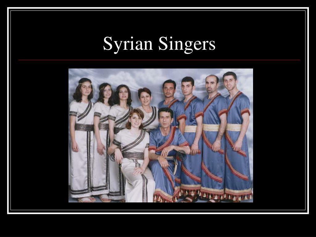 Syrian Singers