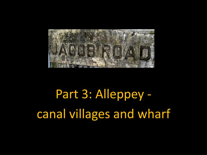 Part 3 alleppey canal villages and wharf