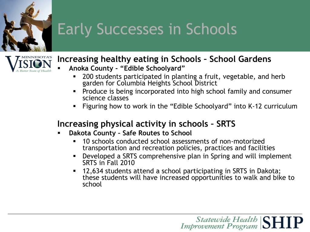Early Successes in Schools