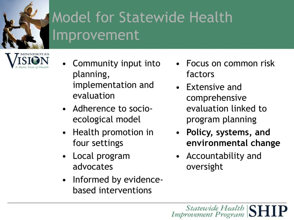 Community input into planning, implementation and evaluation