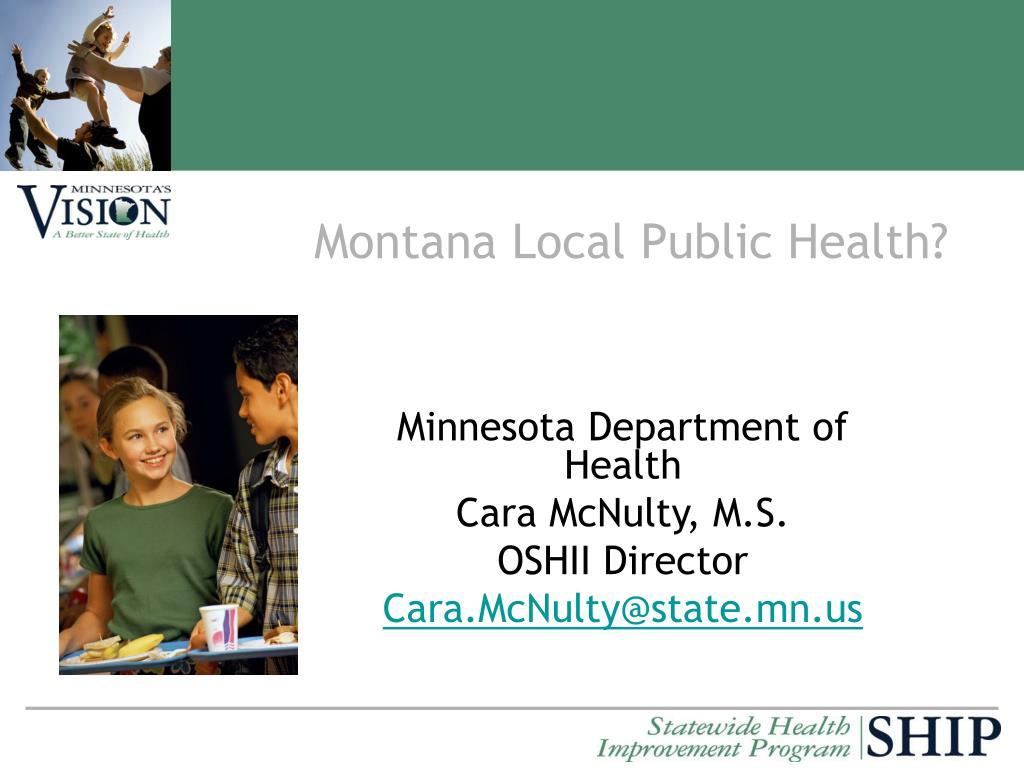 Montana Local Public Health?