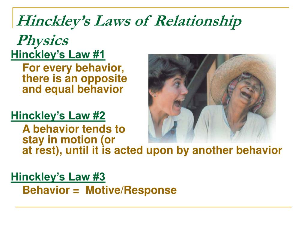 Hinckley's Laws of Relationship Physics