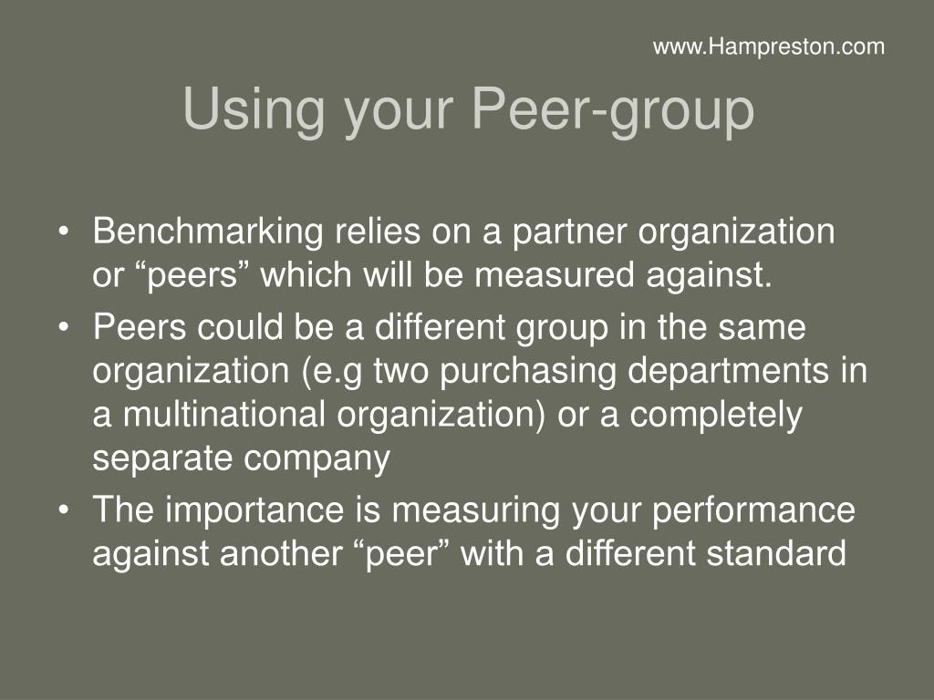 Using your Peer-group