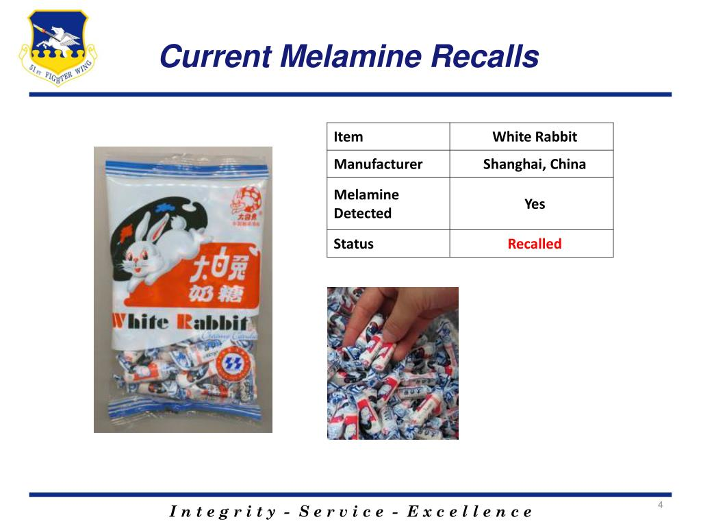 Current Melamine Recalls